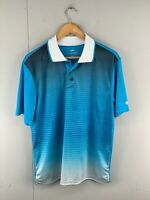 Cougars Men's Short Sleeved Collared Golf Polo Shirt Size M Blue