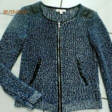 ELLA MOSS Blue Boucle Sweater Jacket Size XS xsmall B122