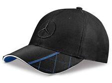 original Mercedes Benz Base Cap Mütze schwarz blau Stickerei Logo 3D Stern NEU