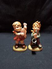 Vintage Napcoware Figurines - Boy w/saxophone and Girl w/Guitar