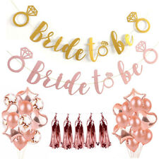 Rose Gold Bride To Be Ring Glitter Banner Bunting Bridal Hen Wedding Party Decor