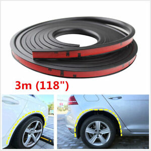 3m Rubber Car Wheel Fender Flares Protection Strip Universal 3cm Width From
