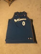 Classic 2000s Adidas Wizards 0 Gilbert Arenas NBA Jersey