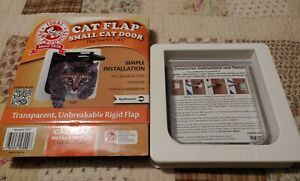 """Ideal Pet Products 6 1/4"""" x 6 1/4"""" Small Cat Door Flap White New box opened"""