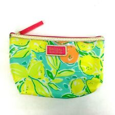 Lilly Pulitzer For Estee Lauder Makeup Bag Lemons Green Yellow Never Used