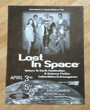 """Lost in Space poster for Science Fiction Exhibition 1998 17"""" x 22"""""""
