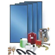 Solaranlage Komplettpaket 4 Flachkollektoren 10 m² Warmwasser und Heizung
