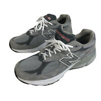 Mens 12 B New Balance 990 Encap Running Shoes Made In USA Gray & White Casual