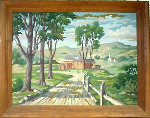 UNSIGNED! LANDSCAPE WITH HOUSES
