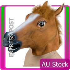 Adult Horse Head Mask Latex Animal Zoo Party Halloween Gangnam Style Costume