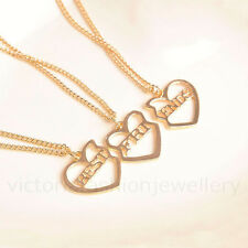 'BEST FRIENDS' 3x Necklace Set, Gold Tone, With Gift Bags, Friendship Three BFF