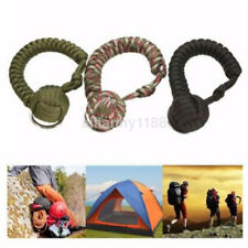 1PCS Outdoor Self Defense Paracord Monkey Fist Steel Ball Keychain Keyring Ball