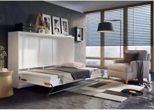 Horizontal Wall Mounted BED Concept Pro 90-140x200 cm hidden foldaway white oak