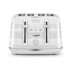 Delonghi CTA4003.W Avvolta 4 Slice Toaster 1800W - White