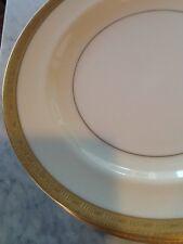 Haviland Limoges France H1920 Dinner Cream Rim White Center Gold Encrust