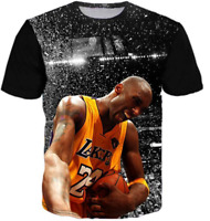 New Kobe Bryant 3D T-Shirt NBA Lakers Star Basketball Full Print Size S - 7XL