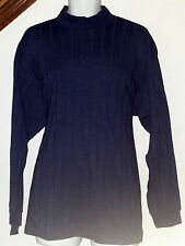 George Over Sized Shirt Long Sleeve Navy Blue X-Large