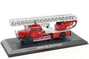 Metz DL52 Krupp Titan Feuerwehr Fire Truck 1956 Year 1/72 Scale Diecast Model