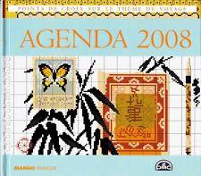 Agenda 2008 Régine Deforges point de croix sur le thème du voyage DMC épuisé