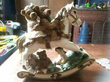 Vintage Christmas Rocking Horse By Regency Fine Arts