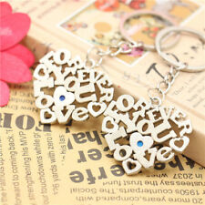 2pcs Set Creativity Love Heart Keyring Couple Keychain Keyfob For Lover Gift