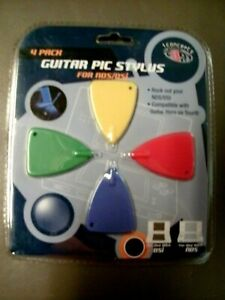 Guitar Pic Stylus Set for NDS/DSi Pack of 4 in Red, Blue, Green and Yellow  NEW