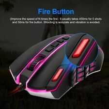 Redragon M901 Perdition 24000DPI MMO LED RGB Wired Gaming Mouse - Black