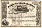 Dayton and Michigan Railroad - Stock Certificate