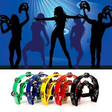 Double Row Jingles Half Moon Musical Tambourine Percussion Drum Party Toy Gift