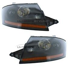 Audi TT 1999-2006 Black Magneti Marelli Headlight Headlamp Pair Left & Right