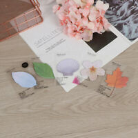 Green Leaf Note Paper Creative Notebook Marker Sticker Memo Pad Sticky Notes IJ