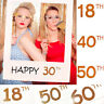 18/30/40/50th Happy Birthday Party Paper Frame Anniversary Photo Booth Props Hpt