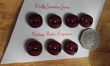 7 Mauve Red 2 hole Retro Vintage Art Deco Dress Cardigan Sewing Buttons 16mm