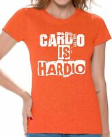 Gym T shirt  Cardio Is Hardio Women's Workout