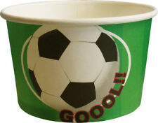 Football Treat Tubs / Ice Cream Cups (8 Supplied)