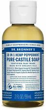 Dr Bronner's / Bronners 18-In-1 Hemp Peppermint Pure-Castile Soap 2 oz Organic