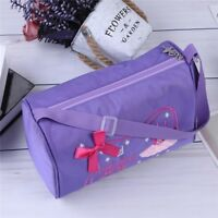 Girls Ballet Dance Gym-Bag Embroidered Shoulder Bag Hand Bag Dancing Pack Bag G6