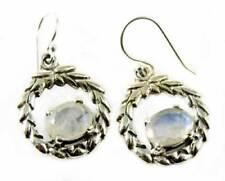 Pendientes de joyería de plata de ley piedra luna