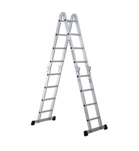 3.7M Aluminium Folding Telescopic Ladder Step Ladder Multi-Purpose Extendable