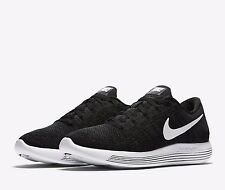 Nike LUNAREPIC Flyknit Low Mens Running Shoes 15 Black White 843764 002
