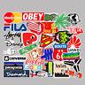 100Pcs Tide Brand Logo Vinyl Stickers Graffiti Guitar Skateboard PC Decal Cool