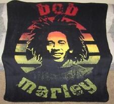 New Young Bob Marley Rasta Colors Circle Fleece Plush Throw Gift Blanket NIP NWT