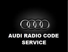 AUDI RADIO CODE PIN DECODE UNLOCK A3 A4 TT SYMPHONY RNS-E CONCERT CD RNS-E