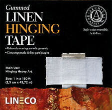 "Lineco GUMMED Linen Hinging Tape 1"" X 150'  Very Strong! # L533-1050 (Bin 608-A)"