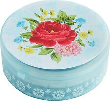 New listing Pioneer Woman Sweet Rose 5 Biscuit Cutters with Storage Container Durable Metal