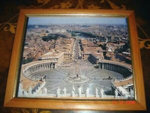 VATICAN CITY Image, Printed Color Picture, Wood & Glass Frame