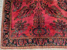 ANTIQUE PERSIAN ORIENTAL RUG  MAHAJERON SAROUK VERY PLUSH 4.1 x 6.4__ Estate #4