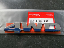 "Genuine Honda CR-V Element Pilot Ridgeline ""4WD"" Emblem New OEM 75719-SZA-A01"