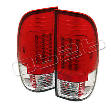 Ford F150 Styleside 97-03 F250 350 450 550 Super Duty 99-07 LED Tail Lights Red