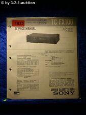 Sony Service Manual TC FX100 Cassette Deck  (#1833)
